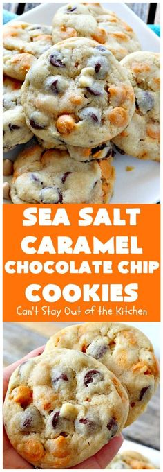 Sea Salt Caramel Chocolate Chip Cookies - soy butter and vegan chocolate chips. what about the caramel chips? Sea Salt Caramel Chocolate Chip Cookies - soy butter and vegan chocolate chips. what about the caramel chips? Caramel Chocolate Chip Cookies, Salted Caramel Chocolate, Chocolate Caramels, Chocolate Chips, Salted Caramels, Healthy Chocolate, Mrs Fields Chocolate Chip Cookies, Chocolate Cheesecake, Caramel Treats