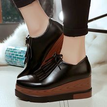 Yoflap - Fringed Platform Wedge Loafers