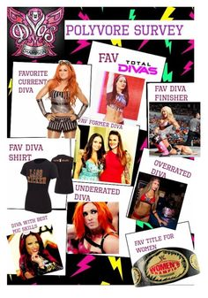 """WWE Divas Polyvore Survey"" by jamielynnstyles17 ❤ liked on Polyvore"