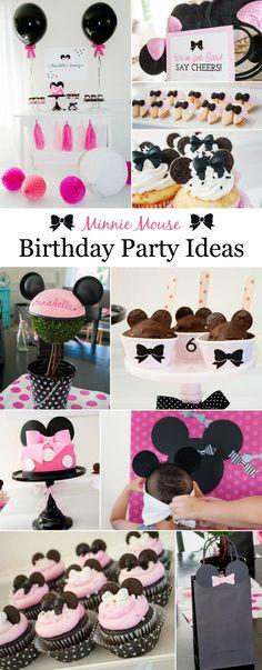 Minnie Mouse Birthday Party Ideas - super-cute decor, DIYs and food!