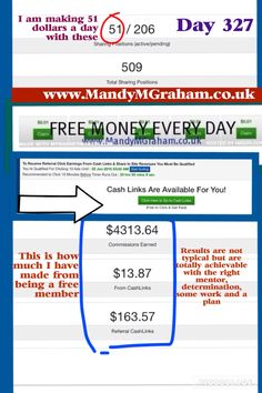 Now earning $51 a day!  Day 327 with Traffic Monsoon  FREE to sign up making money from day 1  Simple as ... 1 - view other members sites and get paid for it 2 - buy ad packs (these earn you money back until they reach $55) 3 - refer other and earn commissions   Or to sign up simply go here -  http://www.mmgtm.moonfruit.com/