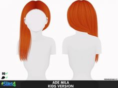 ADE MILA HAIR KIDS AND TODDLER VERSION at REDHEADSIMS – Coupure Electrique • Sims 4 Updates