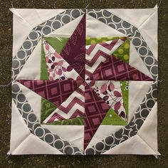 Lovely paper pieced star with ring block by Elizabeth Dackson from Don't Call Me Betsy.