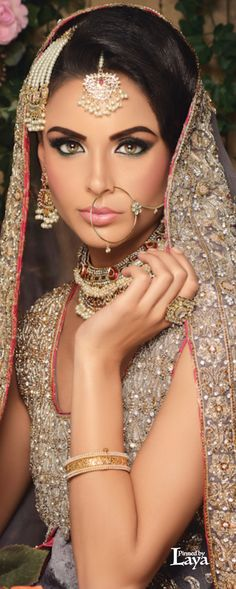 Indian Bridal make-up. Book your specialty artist for your wedding today at: http://www.kensingtonmakeup.com/indian-weddings