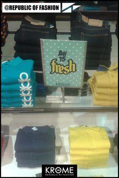 Fashion.Colors.Polos. #AW15 #Krome #UCB #Polos #AtRepublicOfFashion