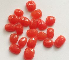 WHOLESALE 10 Pcs Orange Chalcedony Rose Cut by gemsforjewels