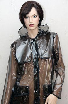Regenmantel Raincoat Rainwear Manteaux de pluie Impermeable und Tasche 100% PVC   Kleidung & Accessoires, Damenmode, Jacken & Mäntel   eBay!