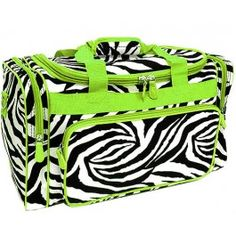 Green Zebra Duffle Bag
