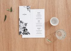 menu - SA garden wedding
