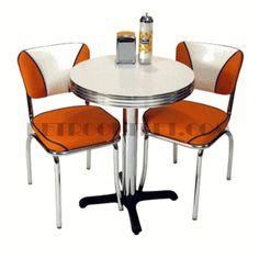 cafe table in orange