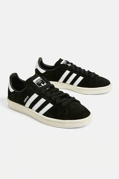 Shop adidas Campus Black Trainers at Urban Outfitters today. We carry all the latest styles, colours and brands for you to choose from right here. Adidas Campus Shoes, Adidas Sneakers, Shoes Sneakers, Urban Outfitters, Athletic Trainer, Uk 5, Black Adidas, Sportswear Brand, Black Shoes