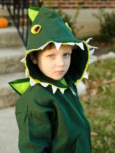 #DIY Kid's Halloween Costume: Dinosaur>> http://www.hgtv.com/handmade/make-a-kids-dinosaur-costume-for-halloween/index.html?soc=pinterest