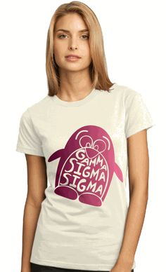 Gamma Sigma Sigma Symbol Name Ladies T-Shirt