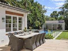 The national auction market achieved a clearance rate in the high again last week. Colonial Style Homes, Spanish Colonial, Southern California Style, Alfresco Area, Lush Garden, Outdoor Living, Outdoor Decor, Cabana, Restoration