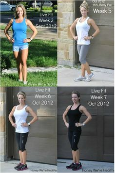 Honey We're Healthy: The Live Fit 12 Week Trainer, 15% Body Fat after Phase 1 and 2