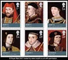 House of Lancaster & Yorks: Kings Henry IV, Henry V,  Henry VI, Edward IV, Edward V, & Richard III.