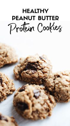 The BEST protein cookies! Chewy, frudge-y, with no added sugar, and packed with protein. YUM! | asimplepalate.com