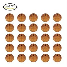 Pandahall 200 Pcs Wood Beads, Lead Free, Round, BurlyWood, 8mm in diameter, hole: 2.5mm