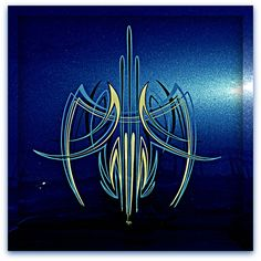pinstriping on rear of 50 Mercury by A Richie, via Flickr