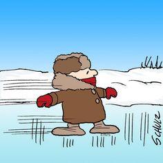 Charlie Brown on ice.