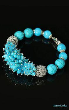 Summers Day Lace Agate Bracelet  Blue Lace Agate Beaded Bracelet  Gemstone Bracelet  Healing Bracelet  Silk Rope Bracelet