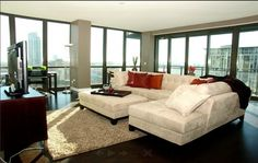 Apartments for rent in Chicago with immense floor plans and amazing views. Trio Apartments in Chicago with many resident amenities. Apartments for rent in Chicago. Apartment Entryway, Dream Apartment, Apartment Design, Apartment Ideas, Chicago Apartments For Rent, City Apartments, Apartment Finder, Condo Decorating, Floor To Ceiling Windows