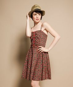 Friday On My Mind: Red Floral Sun Dress