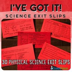 30 Physical Science Exit Slips for Grades 3-5 $