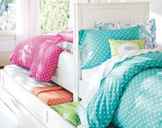 Find cute and cool girls bedroom ideas at Pottery Barn Teen. Shop your dream room with our teen room inspiration and ideas. Teenage Girl Bedrooms, Shared Bedrooms, Little Girl Rooms, Awesome Bedrooms, Teen Bedroom, Teen Bedding, Master Bedrooms, Girls Bedroom Furniture, Bedroom Ideas