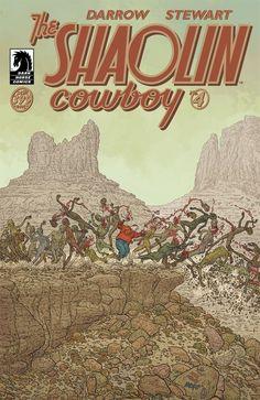 The Shaolin Cowboy by Geof Darrow in finer comic book stores tomorrow - Jan Dark Comics, Fun Comics, Book Cover Art, Comic Book Covers, Book Art, Best Comic Books, Comic Books Art, Geof Darrow, Vigilante