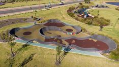 Pump tracks are perfect for everyone from children to mountain bikers in training. Parking Design, Skate Park, Save Energy, Golf Courses, Surfing, Eco Friendly, Track, Australia, Pumps