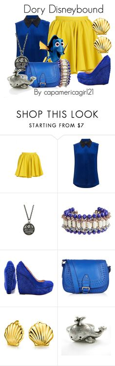 """""""Dory Disneybound"""" by capamericagirl21 ❤ liked on Polyvore featuring Merci Me London, Nonoo, Disney, Nocturne, Betsey Johnson, Monsoon and Bling Jewelry"""