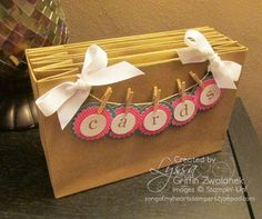 Card File Organizer made from Gift Bags