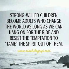Strong willed children. #parenting