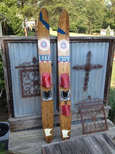 Personalized Water Skis by ChromeReflections on Etsy