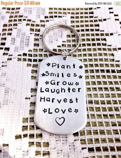 Teacher Gift, Hand Stamped Key chain, Appreciation Gift, Hand Stamped Jewelry…