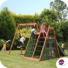 Plum Climbing Pyramid Wooden Playground- idea for Sam