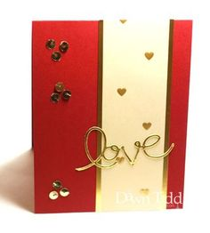 Simple red and gold Valentine's Day card