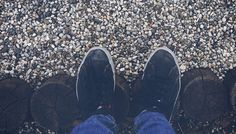 Conceptual free stock photo Sneakers shoes, Canvas shoes on stones and wooden tree stump. Hipster for commercial use. Free Stock Photos, Free Photos, My Photos, Wooden Tree, Tree Stump, Royalty Free Images, Commercial, Shoes Sneakers, Stones