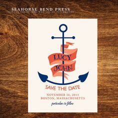 Ahoy Matey Save The Date- Resort Collection