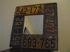 License Plate Mirror made from Real Vintage by ThePlateFactory, $89.00