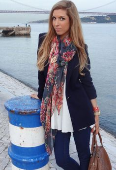 Zara  Blazers, Zara  Scarves / Echarpes and Massimo Dutti  Jewelry