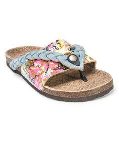 Another great find on #zulily! Light Blue Ann Braided Sandal by MUK LUKS #zulilyfinds