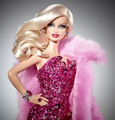 This Barbie is all done up in pink and costs 15,000 dollars.