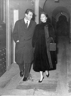 In Rome with Walter Chiari, 1950s.