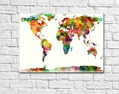 Best World Maps Images On Pinterest Maps Posters World Map Art - Artsy world map poster
