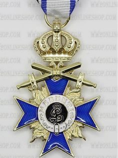 Replica of Bavarian Merit Cross 3rd Class with Crown and Swords for Sale