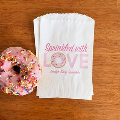 Sprinkled With Love Baby Shower Donut Bags Donut Themed Baby | Etsy