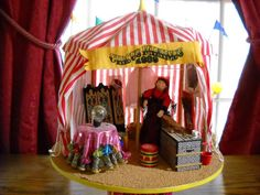 1:12 SCALE DOLLHOUSE MINIATURE NAME PROJECT CIRCUS TENT / FORTUNE TELLER