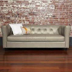 Seating - Chester Tufted Leather Sofa | west elm - gray, chester, chesterfield, tufted, sofa